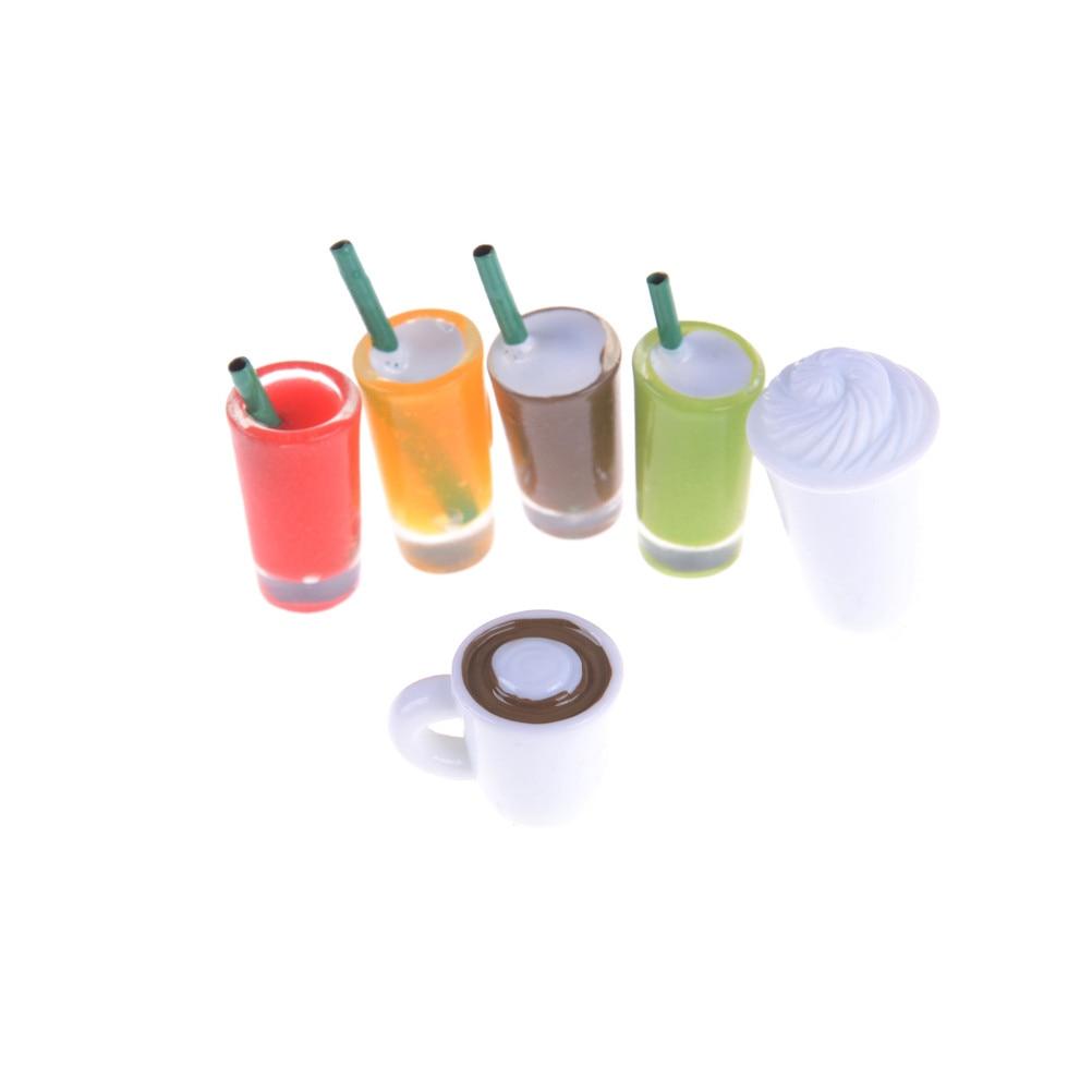 2X Miniature Dollhouse Coffee Cup Kitchen Room Food Drink Decor Mini World