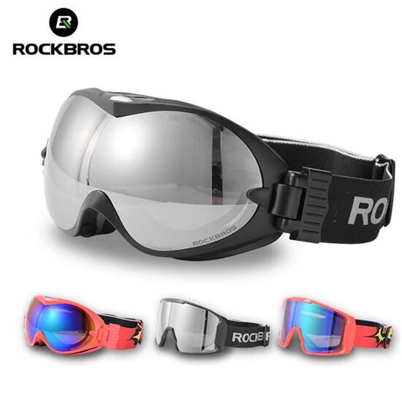 ROCKBROS Men Women Ski Goggles Winter Sport Double Layers Anti-Fog Glasses Snow Skiing UV400 Eyewear Snowboard PC Lens Big Mask