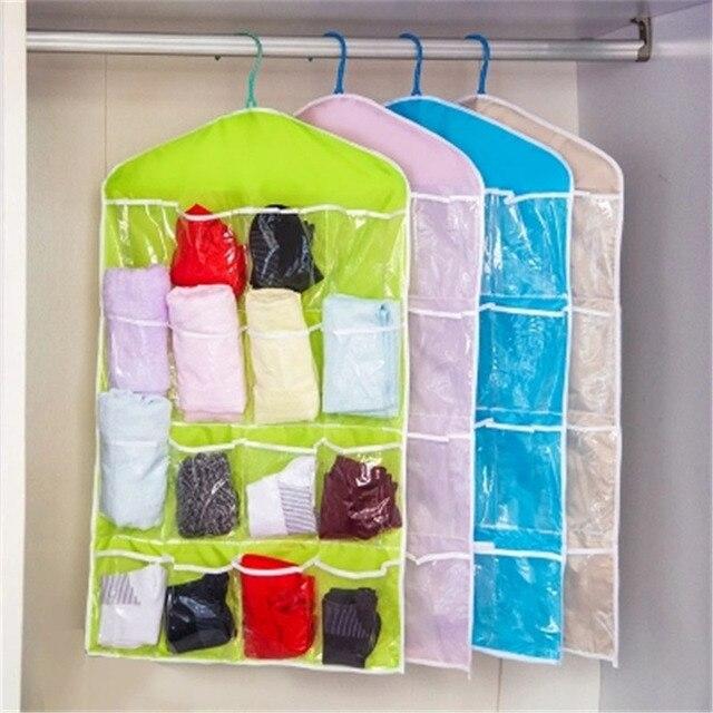 Tủ quần áo Bảo Quản Đồ Lót Tổ Chức Tất Túi Lưu Trữ 16 Lưới Siêu Tiện Lợi Lưu Trữ Túi Tiết Kiệm Không Gian Vải Terylene Trang Trí Nhà