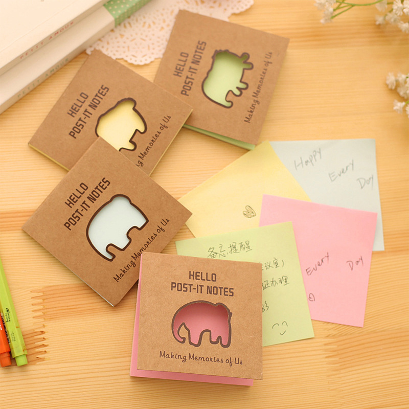 Free Shipping Cute Kawaii Fluorescence Memo Pad Sticky Paper Colored Post It Note For Kids Gift School Supplies Stationery