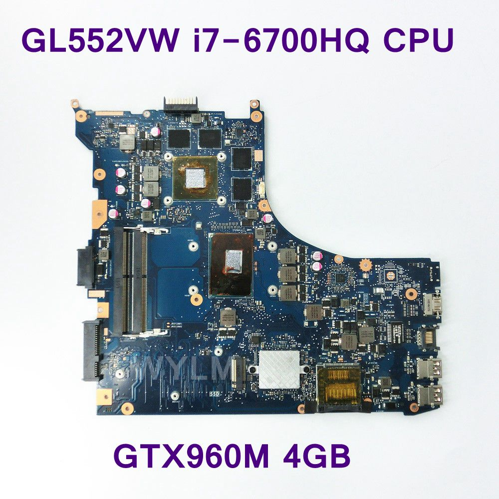 GL552VW With i7-6700HQ CPU NVIDIA GTX 960M 16P-GX-A2 Mainboard REV 2.0 For ASUS GL552V Laptop Motherboard 100% Tested Working цена