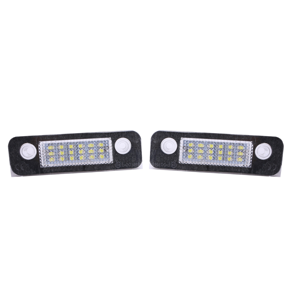 1Pair 12V Power LED SMD License Plate Light Number Plate Lamps Light For Ford Mondeo Mk2 / Fiesta Mk5 Mk6 Facelift // 1pair license number plate light 18led lamps replace for ford mondeo focus 5d canbus d2tb