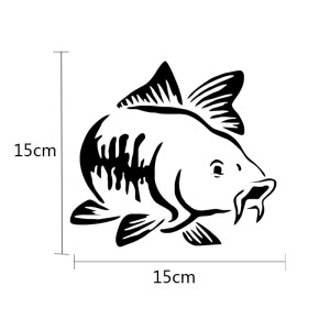 Image 3 - SLIVERYSEA 15*15cm Car Sticker Marine Animal Fish Window Reflective Stickers Car Styling Decoration Sticker Auto Accessories