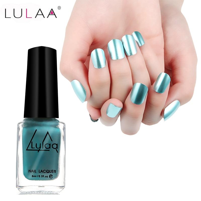 2017 LULAA 6ML Nail Art Tools Matt Lacquer Gel Nail Matte Nail ...