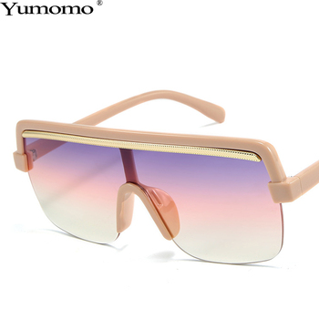 Trendy Square Sunglasses Women 2019 New Fashion Luxury Brand Personlity Literary Retro Gradient Color Mirror Feminino Eyewear