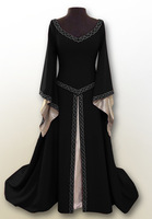 Victorian Gothic Georgian Halloween Dress Embroidery Masquerade Ball Gown Reenactment Clothing