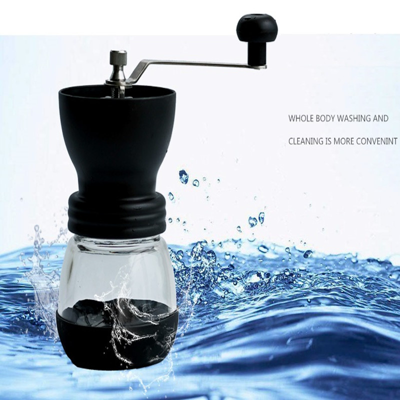 цена на CG01-3,free shipping,Ceramics coffee bean grinder with canister set,coffee grinder,hand Grinding machine,Manual coffee grinder