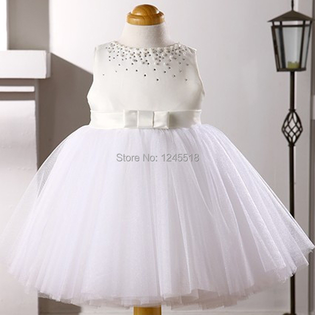 Custom Made White And Ivory Satin Ball Gown Skirt With Bow Knot ...