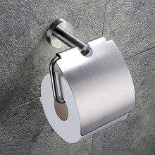 304 paslanmaz çelik tuvalet kağıdı tutucusu kağıt rulosu Raf Askı Banyo Aksesuarları Fırçalanmış ve Ayna Krom Cilalı 2 Seçenek