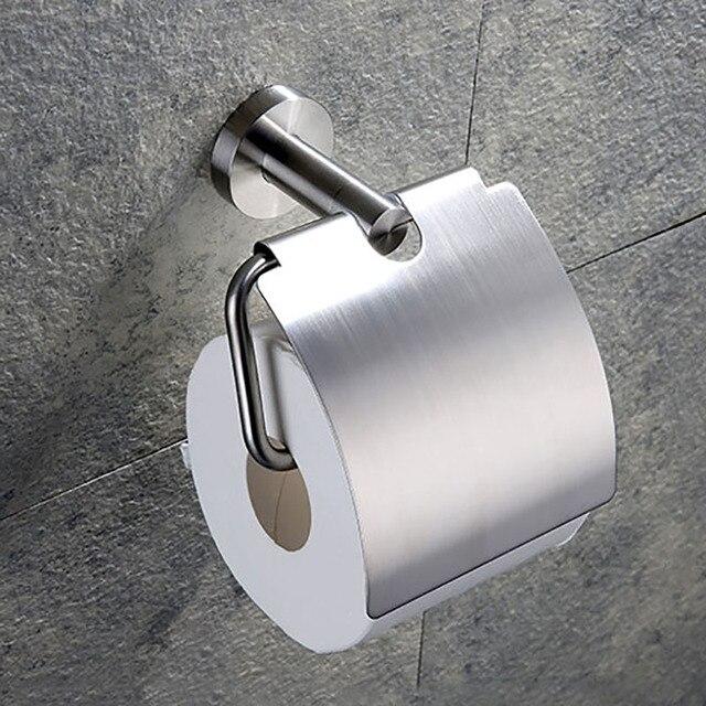 Vệ Sinh Inox 304 Đựng Giấy Cuộn Giấy Giá Phụ Kiện Phòng Tắm Chải & Gương Chrome Đánh Bóng 2 Sự Lựa Chọn