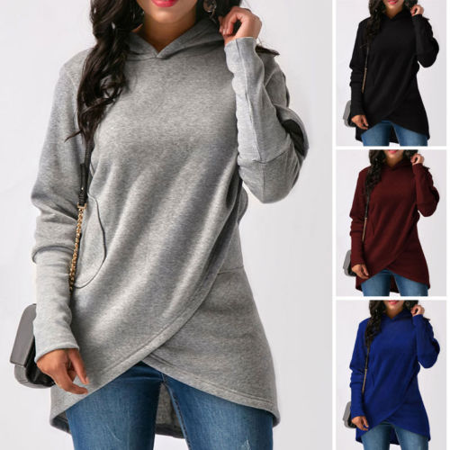 Fashion Women Casual Long Sleeve Hoodie Jumper Pullover Sweatshirt Tops Shirt 2018 New Casual Fashion