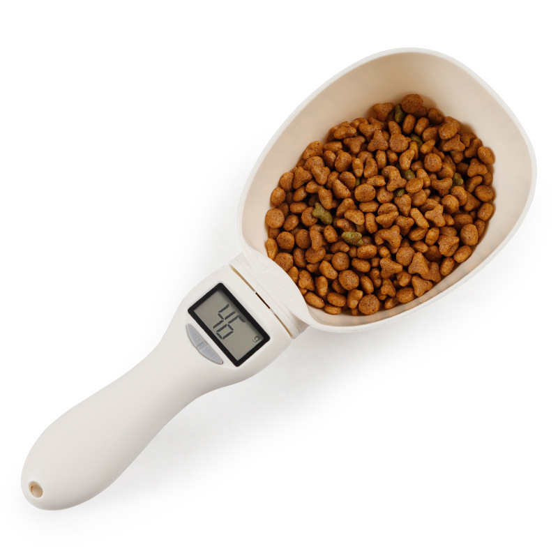 800g/1g Kitchen Scale Spoon Pet Food Scale For Dog Cat Feeding Measuring Spoon Cup Portable Removeable With Led Display