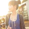 Estilo CC suéter hecho a mano de perlas largo collar de perlas 2016 nueva manera de corea/perolas joyería de las mujeres/collar/halskette/colar longo