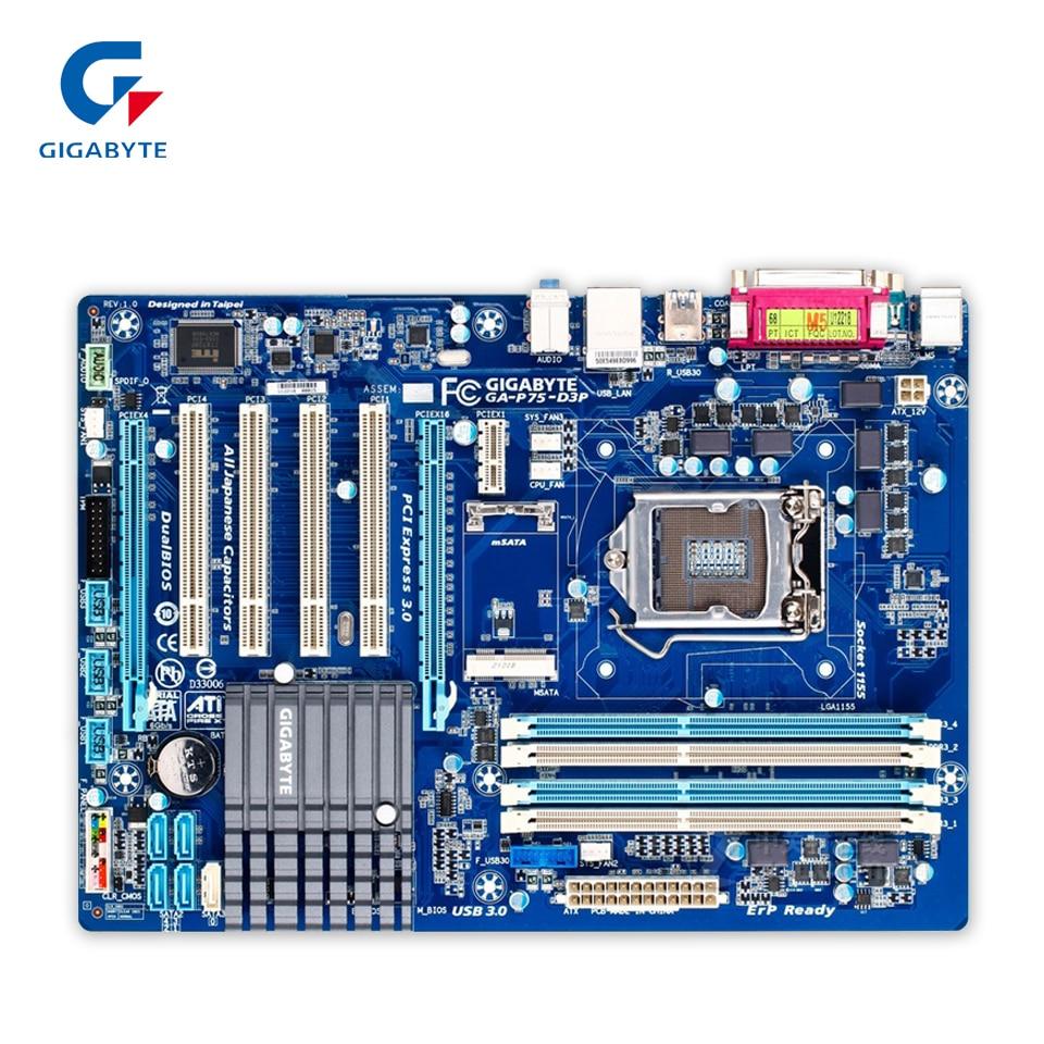 все цены на Gigabyte GA-P75-D3P Original Used Desktop Motherboard P75-D3P B75 LGA 1155 i3 i5 i7 DDR3 32G ATX онлайн