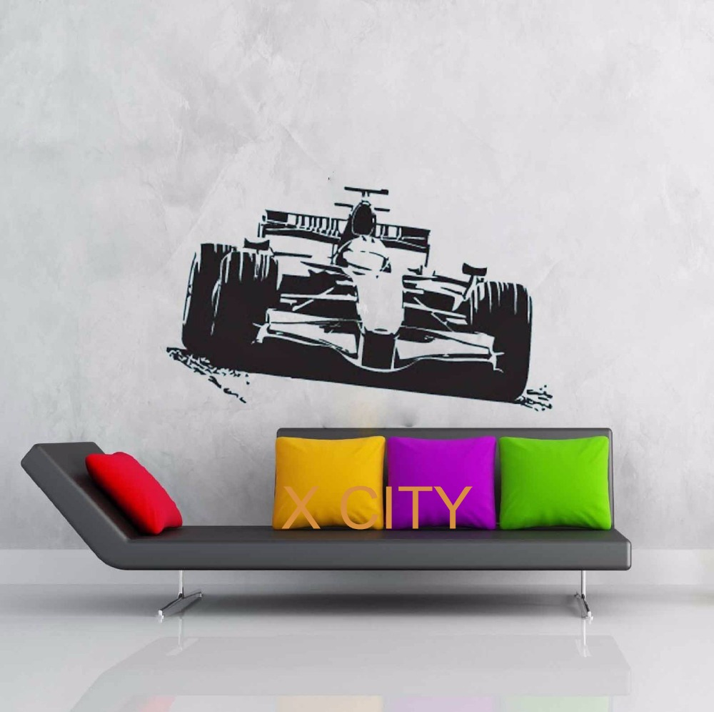 Removable wall art graphic - Sport Car Racing F1 Formula One Wall Art Graphic Sticker Die Cut Vinyl Decal Home Bedroom