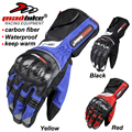 motorcycle gloves Mad Bike 100% Waterproof Motorcycle carbon fiber gloves cycling gloves Winter Warm Windproof Protective Gloves