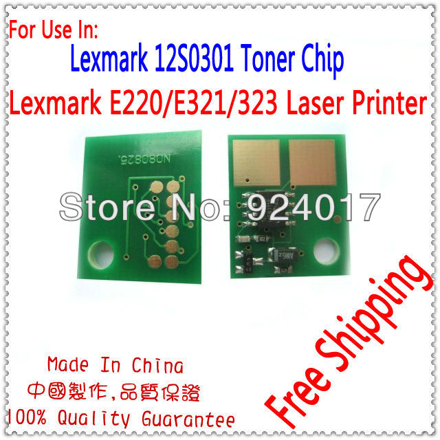 Für Lexmark E220 E321 E323 Toner Chip, Für Lexmark 12S0301 12S0300 Toner...