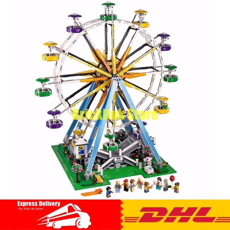 DHL LEPIN 15012 2478Pcs City Expert Ferris Wheel Model Building Kits Blocks Bricks Toys Compatible 10247 2478pcs lepin 15012 city expert ferris wheel model building kits assembling block bricks compatible with 10247 educational toys
