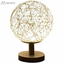modern table lamp bedroom bedside school reading night light Ball Weaving Table Luminaire modern luxurious chrome crystal table lamp bedroom light bedside lamp ball table lamp night light
