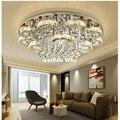 Moderne Edelstahl Kristall Deckenleuchte Wohnzimmer D60cm D80cm LED Kristall Deckenleuchte Leuchte Für Schlafzimmer Garantiert 100%-in Deckenleuchten aus Licht & Beleuchtung bei