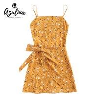 AZULINA Bowknot Wyciąć Wielowarstwowa Mini Sukienka Kobiety Casual Boho Plaża Suknie Vestidos De Festa Lato Bawełna Rękawów Szaty Kobiet