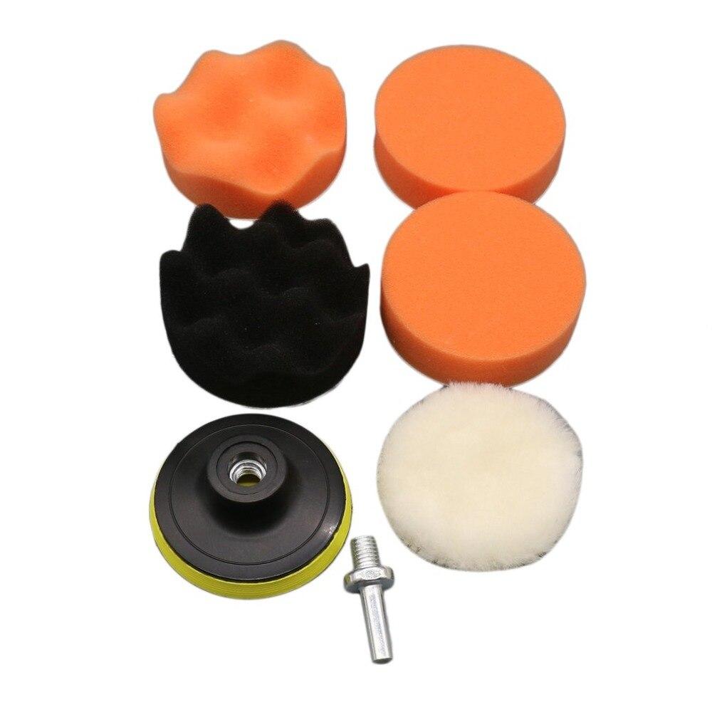 7 Stücke 4 Zoll Welle Schwamm Auto Polieren Waxing Rad Set Kits Auto Styling Werkzeuge Poliert Wiederherstellung Auto Körper