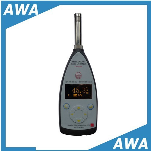 Class 1 professional sound level analyzer AWA5661 1 Precision Impulse Sound Level Meter