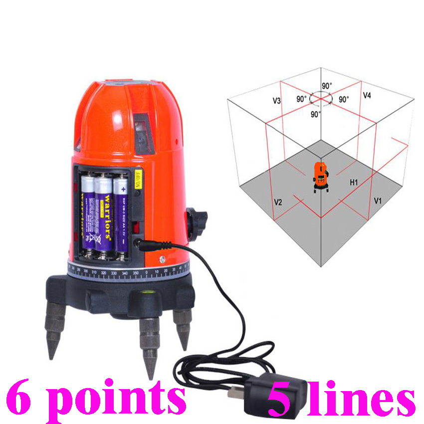 High precision Laser level 5 line 6 point line red light instrument infrared light level outdoors for Building Construction longyun 3 line red light laser level instrument