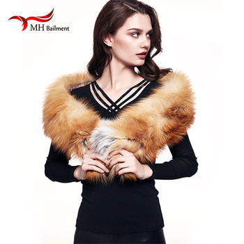 Natural Fox Fur Scarves fox New Winter Warm Solid Fashion scarves for women high quality scarves and scarves luxury brand L#24 фото