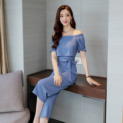 High waisted loose fitting casual striped jumpsuit women 39 s summer 2019 new 7 point cargo jumpsuit wide leg pants in Jumpsuits from Women 39 s Clothing