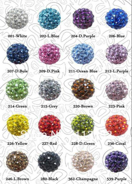 Free Shipping,Can mix colors,Shamballa Beads 10mm,100% AAAA Qulity Shamballa Bracelet Crytal Beads,10mm Disco Ball Crystal Beads