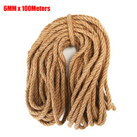 6MM 100Meters Natural Jute Twine Arts and Crafts Jute Rope Heavy Duty Packing String for Gifts, DIY Crafts, Decoration, Bundling