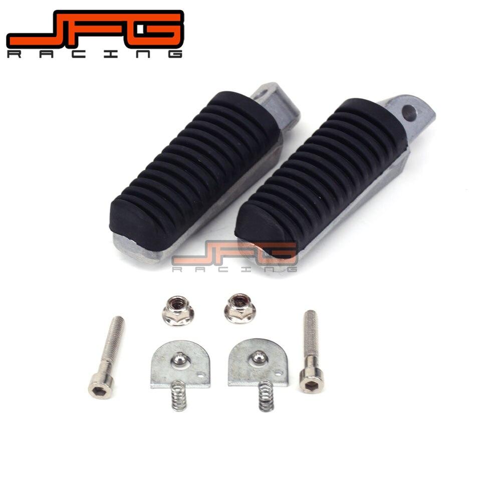 Footrest Rear Foot Pegs Rests Pedals For YAMAHA FJR1300 FZ1 FZ400 FZ6 FZ6R XJR400 XJR1200 XJR1300 XJ6 Motorcycle