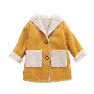 Image 2 - Abrigo de lana para niños y niñas, Chaqueta larga de otoño y primavera