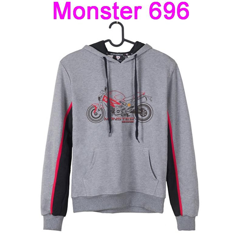 KODASKIN homme Hoodies capuche veste moto Sweatshirts protection à capuche manteau pour Ducati Monster 696