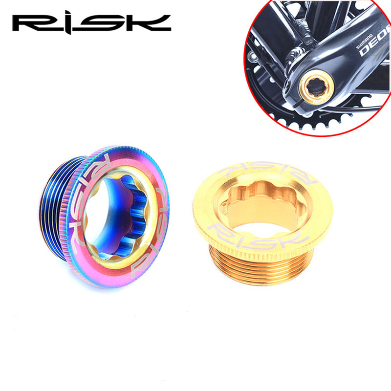 все цены на RISK M20X8mm Bottom Bracket Chainwheel BB Cranks Cover Cups Arm Bolt/Threads Titanium Ti Crankset Fixing Bolt Screw онлайн
