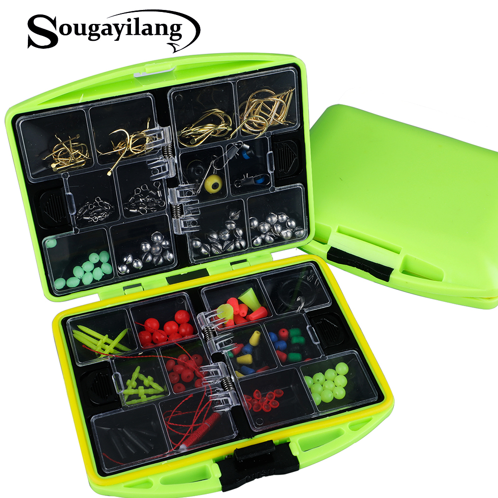 Sougayilang 24 Compartments Full Loaded Hook Spoon Water-Resistant Swivels Fishing Accessories Sinker Fishing Tackle