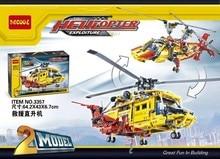 DECOOL Technic City Series 2-in-1 Helicopter Building Blocks Bricks Model Kids Toys Marvel Minifigur