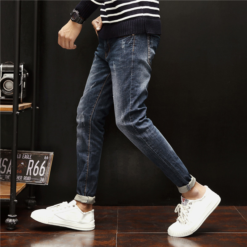 Recommend Favourite Han Teenagers Scraping Cowboy Trousers Man Bound cargo Male streetwear camouflage Gothic Punk Style