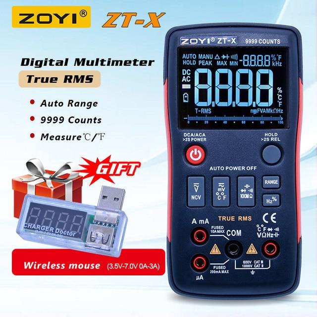 ZOYI ZT-X Digital Multimeter ac dc voltmeter true rms auto range multimeter with NCV DATA HOLD LCD backlight display