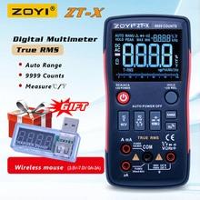 ZOYI цифровой мультиметр с автоматическим диапазоном, вольтметр переменного тока и постоянного тока, мультиметр с NCV, ЖК дисплеем с подсветкой
