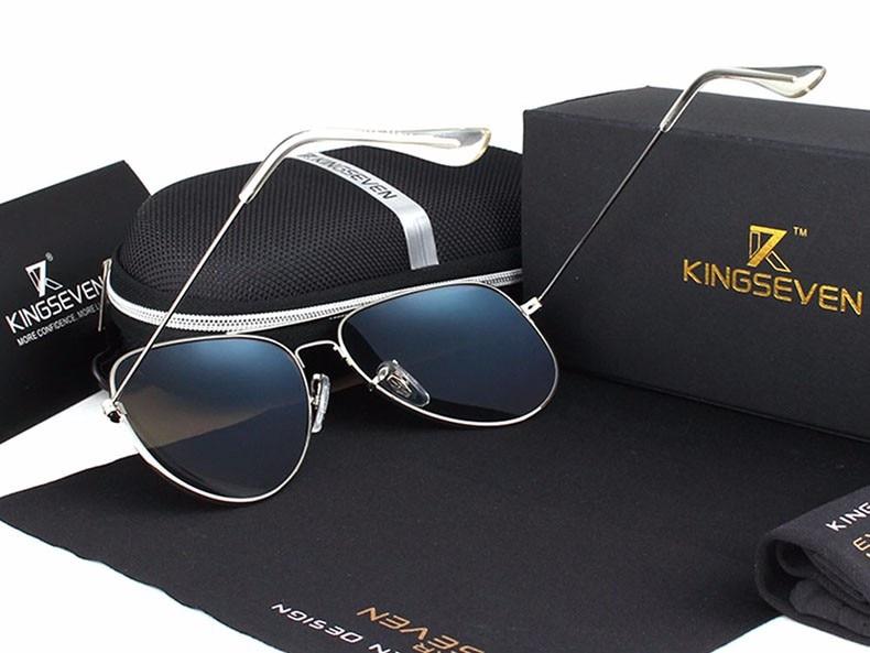58mm Retro Sunglasses Women Kingseven Luxury Brand Female Sun glasses For Women 16 Fashion Oculos Designer Shades Unisex 3025 14