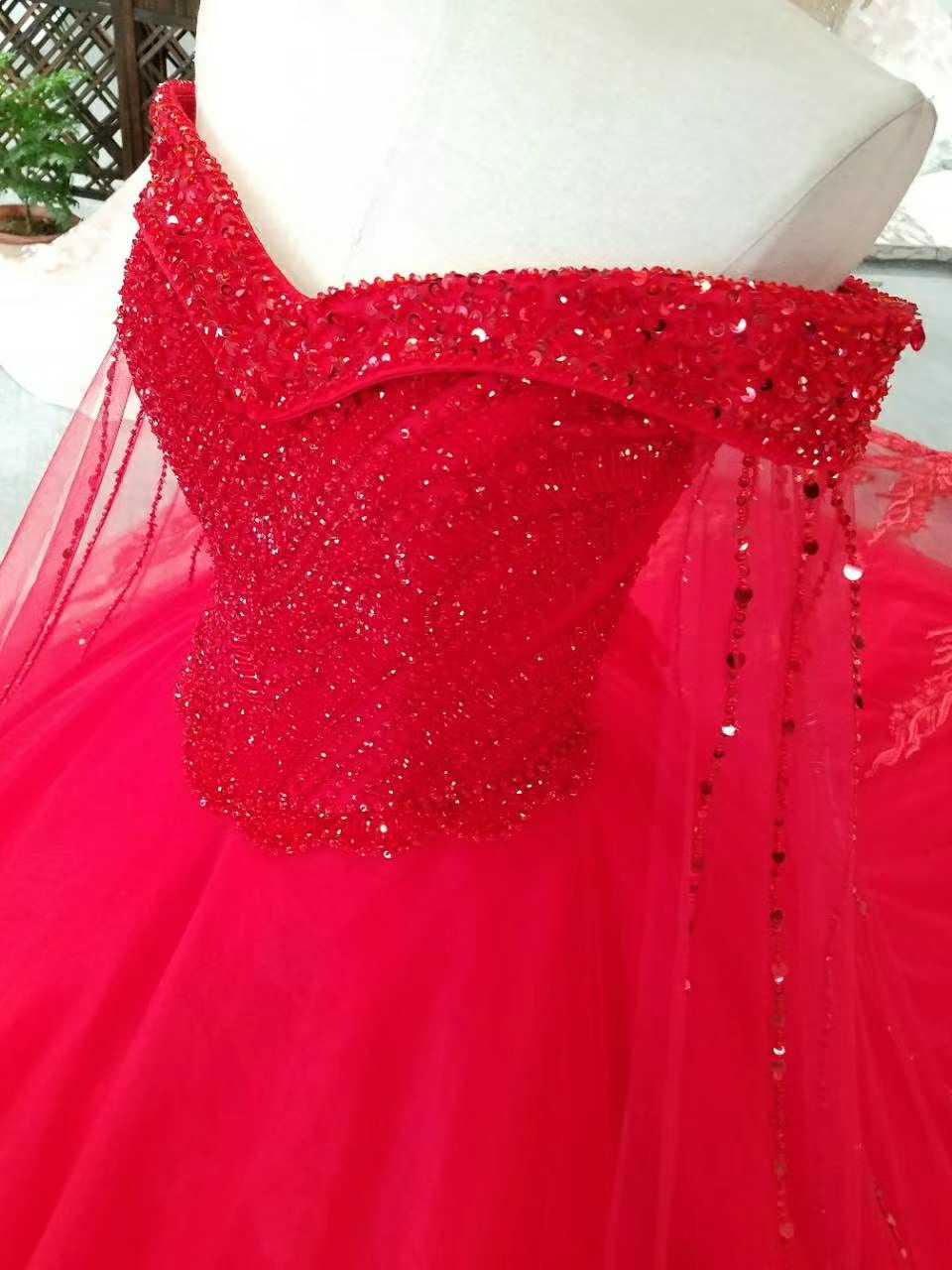 Ny Arrival Elegant A-Line Spets Sequins Bröllopsklänning 2017 - Bröllopsklänningar - Foto 6
