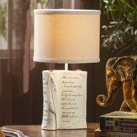 Европейский смолы Книга кабинет настольные лампы Ткань абажур Спальня рядом Настольная лампа Гостиная стол Освещение светильники