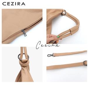 Image 4 - CEZIRA Large Hobo Bags Women Vegan Shoulder Bag High Quality Soft PU Leather Tote Fashion Light Ladies HandBag Crossbody Bag Sac