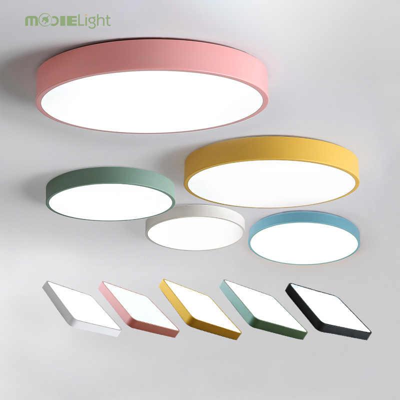 Mooielight светодиодный потолочный светильник современная лампа для гостиной светильник для спальни кухни поверхностное крепление скрытая панель дистанционное управление