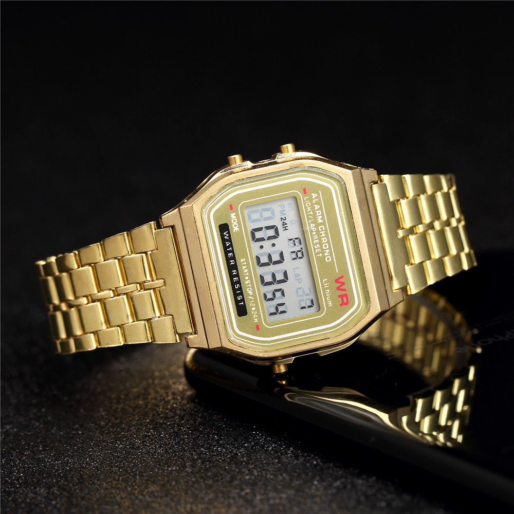 Men Womens Stainless Steel Digital Watch Men 39 s Sports Casual LED Watches Relogio Masculino Military Wristwatches Reloj Hombre in Quartz Watches from Watches