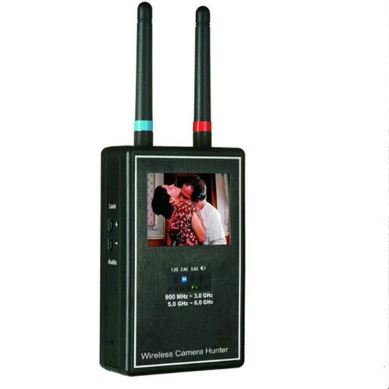 Full band 1.2 GHz - 2.4 GHz - 5.8 GHz Wireless Camera Hunter / Wireless Camera Sweeper / Hidden Camera Detector Free Shipping