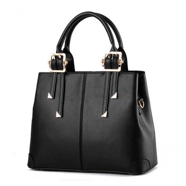 c3c84c66f578 Online Shop Fashion Brand Women PU Leather Handbags Vintage Satchel Bags  Cross Body Shoulder Bags Ladies Black Blue Tote Bag bolsa feminina