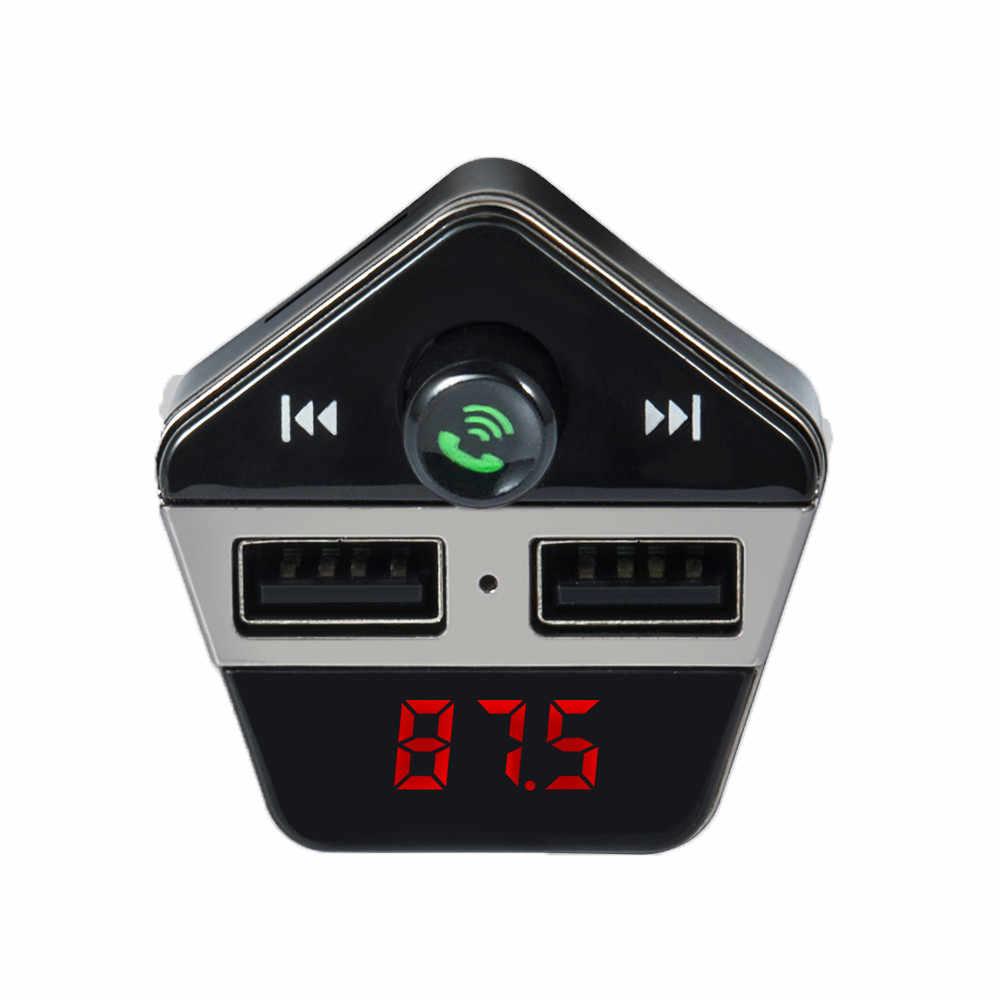 شحن مجاني سماعة لاسلكية تعمل بالبلوتوث سيارة عدة مشغل MP3 FM الارسال SD TF المزدوج USB تهمة أدوات إلكترونية للسيارات هيئة التصنيع العسكري سيارة Mp3